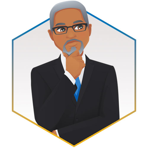 partner persona illustration of a mature professional